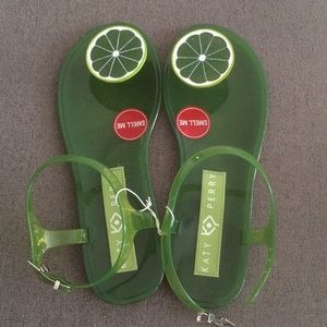 NWOT Katy Perry Lime Sandals (sz 8)